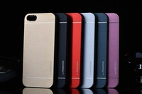 Top quality Motomo Deluxe Metal Brush Cover for apple iphone 4 4s 4g / 5 5s 5g case Aluminum + PC hard back phone cover bags
