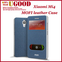 Original Luxury Colorful MOFI Leather Phone Cases For Xiaomi Mi4 Android Mobile Cell Phones Smart Awake Shell Protector