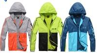 2014New Men Spring Autumn Jacket Coat Sport Suit Sportswear Jogging Clothes Windproof Waterproof Breathable outdoor