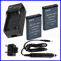 Battery (2-Pack) and Charger for Nikon EN-EL23,EN EL23  and Nikon Coolpix P600, S810c Digital Camera