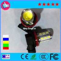 White high power 10W  led fog light super bright 18SMD LED +1 COB H11 Socket LED Car Fog Lights Driving Lamp Light Bulb