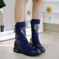 2014 Winter Women Boots Fashion Shoes Women Autumn Boots Zipper Leather Boots for Women FW66
