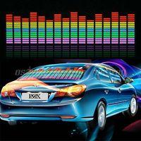 5pcs/lot Best Price Music Rhythm LED Flash Light Lamp Sound Activated Equalizer Car Sticker 90 *25cm