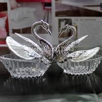 Free shipping plain swan wedding boxes , sillver swan gift boxes ,120pcs/lot ,