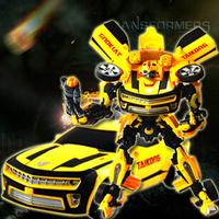 Boy V level vivid flexible emulational bumblebee toy with voice light figure autobots transformation robot toys kids toys WJ036