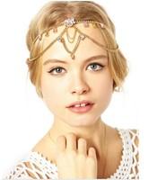 European United State Accessorise fashion lenth Hairbands multi bling Head bands hair chain accessorise