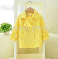girls Trench overcoat,girls candy color overcoat,WZ14-YXZ01