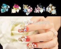 10Pcs/lot  3D Metallic Rhinestones Crystal Nail Art Tips Studs Shiny Phone Decor DIY