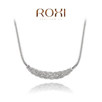 ROXI  Wholesale fashion White Gold Plated Austrian crystal Necklace ,new arrival fashion jewelry factory prices RO119