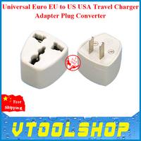 2014 Universal Euro EU to US USA Travel Charger Adapter Plug Converter Free Shipping USA Travel Charger Adapter Plug Converter