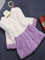 100% Real Genuine Rex Rabbit Fur Long Coat Jacket Women Clothing Outwear Unique Winter 2014 New