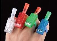 Multi-color Bright LED laser Finger Ring Light Lamp Beams Torch For Party KTV Bar gift
