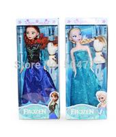33cm With Original Box Frozen Doll 2pcs Set High Quality Elsa and Anna Frozen Princess Classic Toys