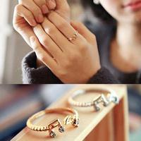 2014 Women's  Simple Style Elegant Music Note Open Twist Ring Girls Lady Fashion Jewelry Free Shipping 25jMHM287
