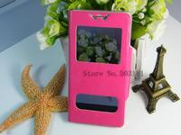 flip  2 windows PU Leather Case Cover Flip & Film For Various Nokia Lumia  720 Mobile Phone