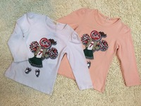 Retail 2014 Brand Baby&Girl's fashion casual cotton breathable T-shirt/Children's long sleeve O-Neck sports clothing+Free Shipp