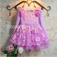 Retail Elegant kids dress baby girls dress ,party princess kids clothes christmas wear vestidos de menina free shipping