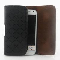 Luxury Retro Plaid Universal Belt Clip Leather case for SAMSUNG Galaxy S4 mini I9190 Free shipping 04