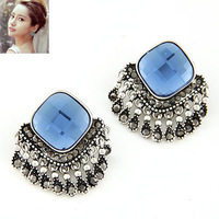 Min Order 10USD Elegant Fashion Glass Stone Stud Earring Tassel Earring For Women