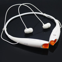 New White HV-800 Wireless Stereo Bluetooth Music Headset Universal Neckband Earphone for Cellphone iPhone 5S 4S Samsung S4 S3