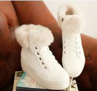 2014 shoes paltform platform boots round toe sweet lacing female snow boots