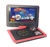 New BLACK 9.8'' PORTABLE 9806 DVD PLAYER USB  MMC SD GAME AV-IN & OUT FM TV RADIO Free Shipping
