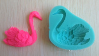 F09114 Silicone Cake Mould Swan 65001 Model Handmade Chocolate Clay Mold Baking Equipment Color Green Free Shipping