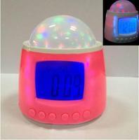 Multifunctional Novelty LED Starry Sky music projection clock Calendar Music LCD Digital Alarm Clock Timed music play