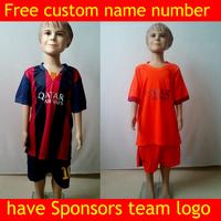 Kids Soccer jersey 2015 shirt home jersey football shrit  home away jersey football kits set ropa de kids youth soccer jersey