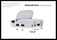 Free Shipping Multimedia Smart Charger Dock Station Desktop cradle with HDMI MHL HDTV USB OTG For Samsung S4 S3 NOTE 2 i7100