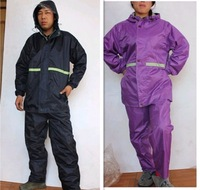 Double layer water-resistant double layer adhesive oxford fabric male Women raincoat set
