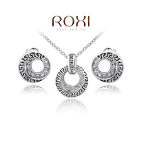 Retail - Free Shipping sterling silver jewelry set,Fashion Earrings+Necklace jewelry sets,925 sterling silver