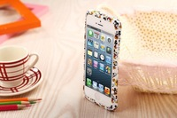 Flower Silicon Case Cover Frame Bumper For Iphone 5 5S Mobile Phone Protection Case