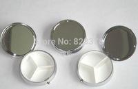100PCS Silver Plated Protable Metal Pill Boxes Travel Medicine Organizer Container Metal Mini Jewelry Box Case, Via Fedex/EMS