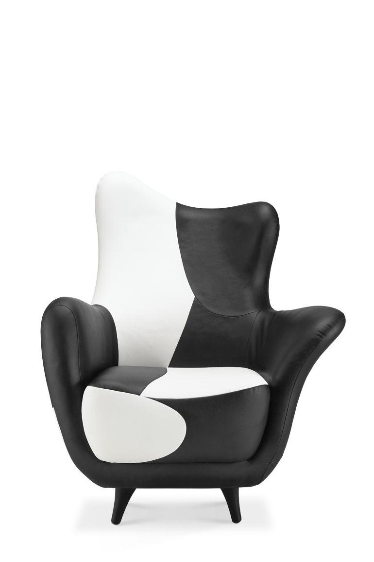 Hotel sofa chair model room flats creative designer furniture sofa sofa black and white leather sofa shaped units(China (Mainland))