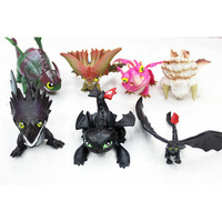New arrived 2014 How to Train Your Dragon 2 PVC Action Figures Toy Doll NightFury toothless dragon/opp package 7pcs/sets 5sets