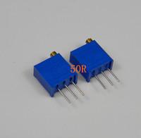 10pcs 50 ohm 3296W-500 3296 WTrim Pot Trimmer Potentiometer