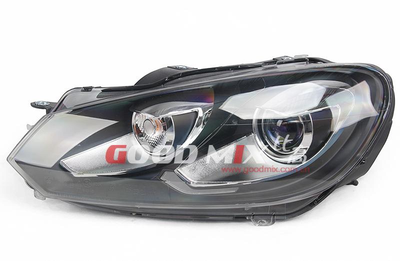 Volkswagen VW Golf MK6 GTI Style Bi-Xenon Projector Headlight with Xenon Bulbs and Ballasts(China (Mainland))