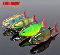 DW26 4pcs fishing lure popper Bass Hooks 11cm/27g 4# VMC SLOWLY SINKING 4 Segments fishing lures fishing hard bait
