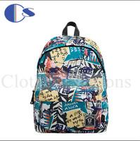European High Fashion Graffiti Durable Teenage Kid PU Strap School Bag Student Backpack Student Book Bag Mochila School Kids