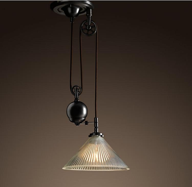 american vintage wrought iron chandelier lift loft glass cha
