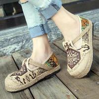 Shoes Woman Loafers Women Flats Shoes Hand-woven Hemp Girl Shoes Flat Shoes