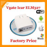 Original factory Price ELM327 wifi Original Vgate iCar elm327 elm 327 WIFI OBDII OBD2 For Android PC iPhone iPad Car free ship