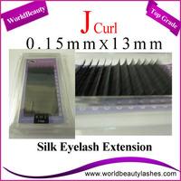 10trays/Lot 0.15mm Thickness J Curl 13mm Korean Silk Eyelash Extensions