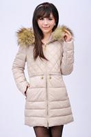 Hot Selling Women Apparel Long Jacket Zipper Up Cotton Coat Plus Size Outerwear Winter Jackets Coats Free Shipping