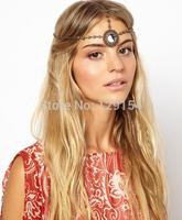 Newest Wholesale Bohemian Korean Vintage Retro Rhinetone Flower Headband Head Chain Wedding Hair Accessories