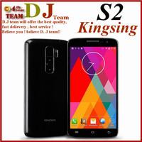 Original Kingsing S2 MTK6582 Quad core Mobile Cell Phones Android 4.4 5.0'' QHD IPS Screen 1GB RAM 8GB ROM Dual Sim WCDMA 3G