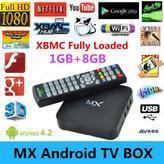NEW Original MX Android TV Box 4.2.2 Dual Core XBMC Midnight 1G+8G Dual ARM Cortex A9 WiFi Mini PC support MX Linux/OpenELEC