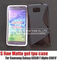For Samsung Galaxy Alpha G850f F Alpha G901F silicone s line gel tpu cover case,1pcs/l,high quality,new arrive