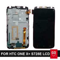 100% Original and New For HTC One x+ One x plus S728e LCD Display Screen with frame and Touch Screen Digitizer Assembly